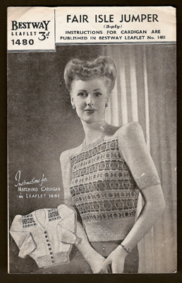 PHOTOS. ALL ABOUT 1940s Fashions History Knitting Pattern Style :